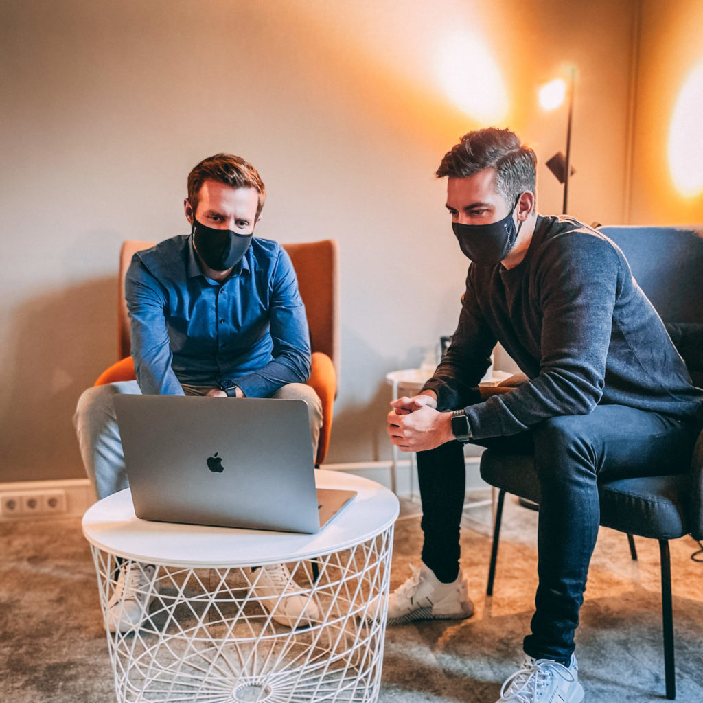 Working with a mask at Seedbox Venture Studio